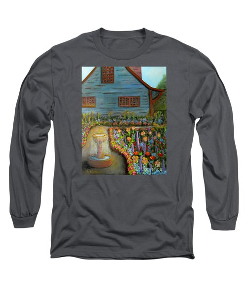 Dream Garden Long Sleeve T-Shirt by Laurie Morgan