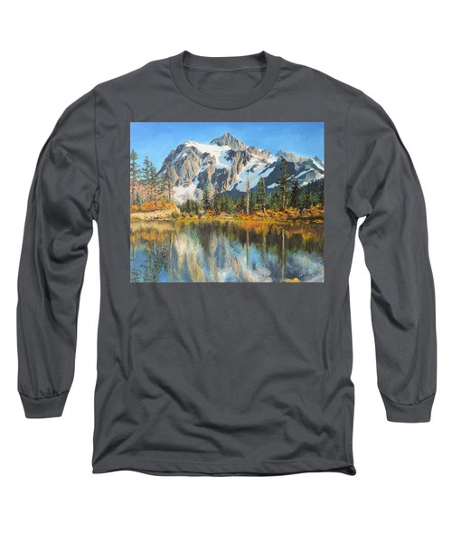 Fall Reflections - Cascade Mountains Long Sleeve T-Shirt