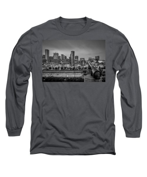 Long Sleeve T-Shirt featuring the photograph Federal Hill In Baltimore Maryland by Susan Candelario