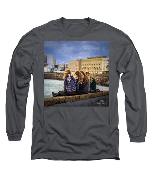 Foreign Students Cadiz Spain Long Sleeve T-Shirt by Pablo Avanzini