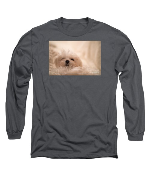 Fresh From A Long Winter's Nap Long Sleeve T-Shirt by Lois Bryan