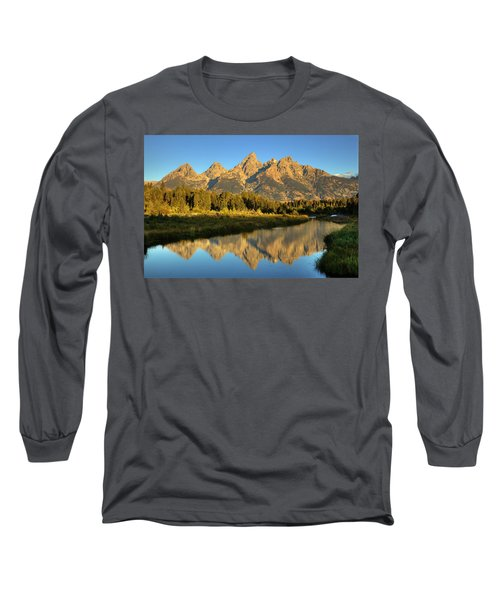 Long Sleeve T-Shirt featuring the photograph Grand Teton by Alan Vance Ley