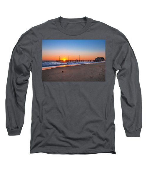 Jennettes Pier Long Sleeve T-Shirt by Mary Almond