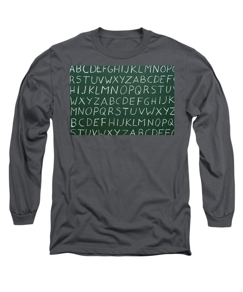 Letters On A Chalkboard Long Sleeve T-Shirt