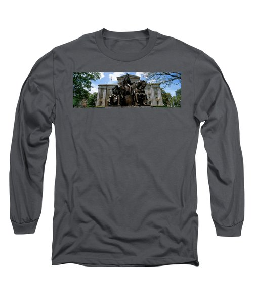 Low Angle View Of Statue Long Sleeve T-Shirt by Panoramic Images