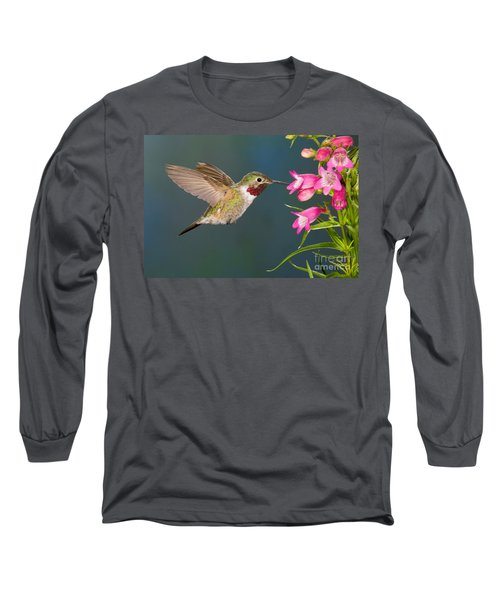 Male Broad-tailed Hummingbird Long Sleeve T-Shirt