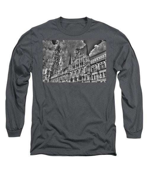 Marienplatz In Munich Long Sleeve T-Shirt