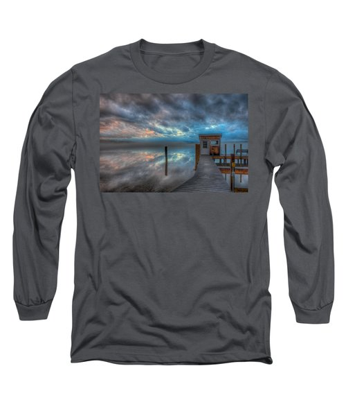 Melvin Village Marina In The Fog Long Sleeve T-Shirt