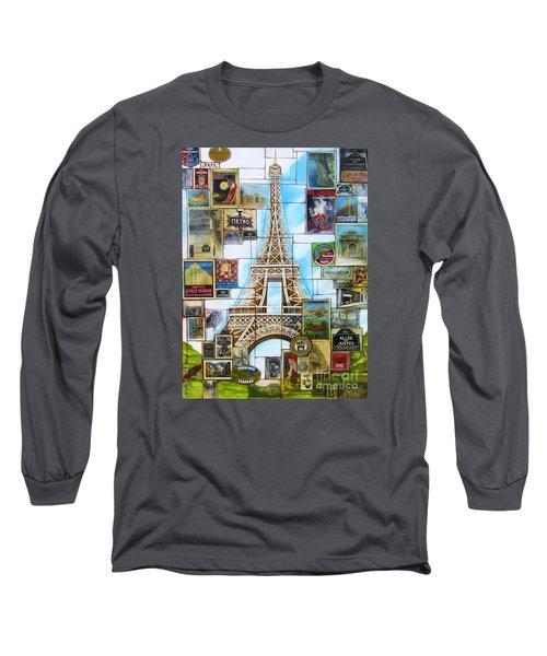 Memories Of Paris Long Sleeve T-Shirt by Joseph Sonday