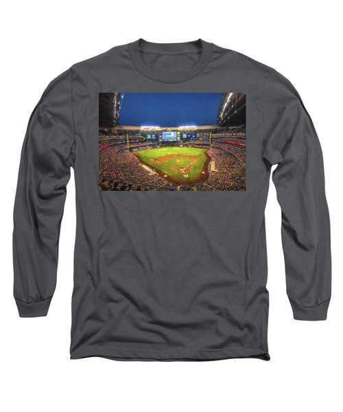 Milwaukee Brewers Miller Park Painted Digitally Long Sleeve T-Shirt