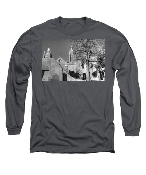 Mission In Black And White Long Sleeve T-Shirt