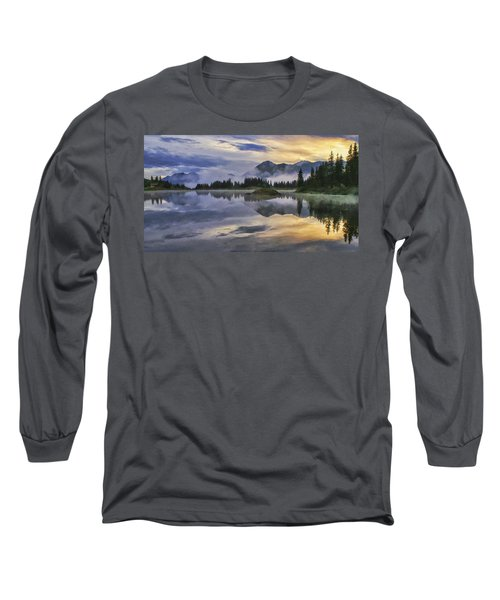 Molas Lake Sunrise Long Sleeve T-Shirt by Priscilla Burgers