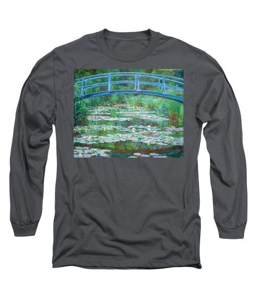 Long Sleeve T-Shirt featuring the photograph Monet's The Japanese Footbridge by Cora Wandel