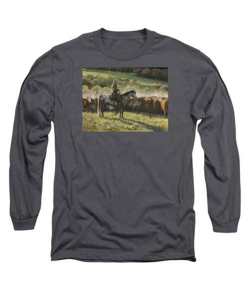 Morning In The Highwoods Long Sleeve T-Shirt by Kim Lockman