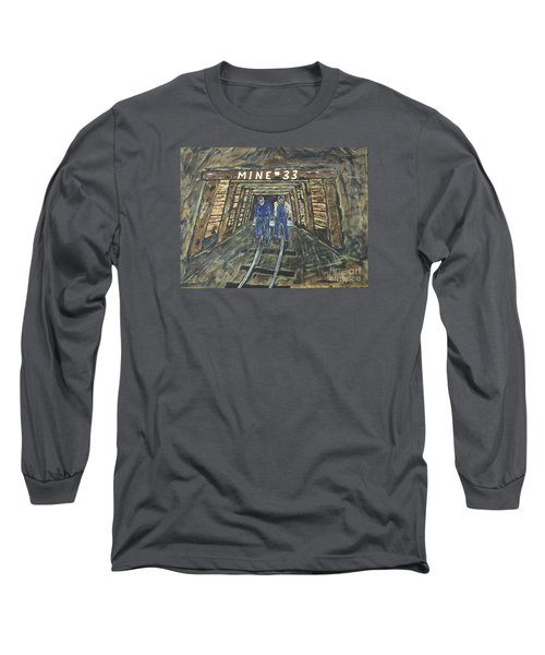 No Windows Down There In The Coal Mine .  Long Sleeve T-Shirt by Jeffrey Koss