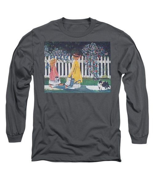 Off To The Garden Long Sleeve T-Shirt by Catherine Swerediuk