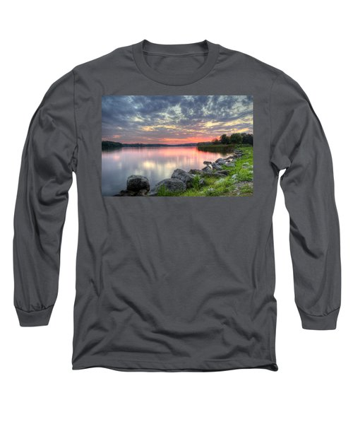 Ohio Lake Sunset Long Sleeve T-Shirt