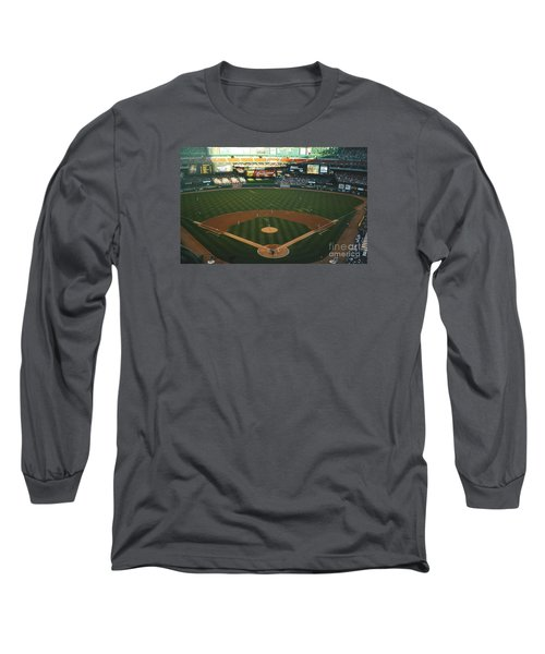 Old Busch Field Long Sleeve T-Shirt by Kelly Awad