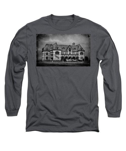 Old Post Office - Customs House B W Long Sleeve T-Shirt