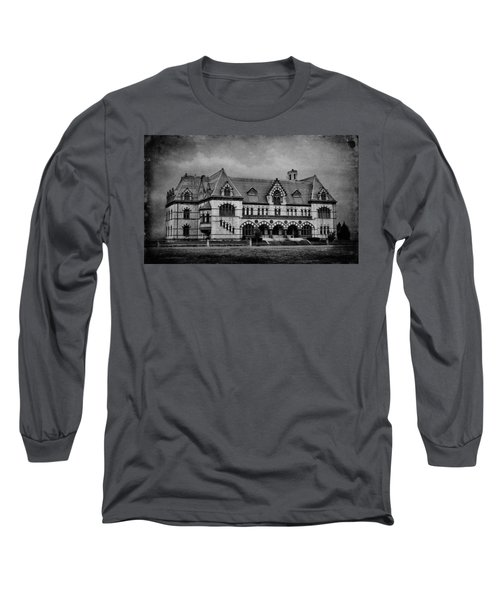 Old Post Office - Customs House B W Long Sleeve T-Shirt