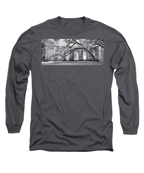 Old Sheldon Church - Side View Long Sleeve T-Shirt