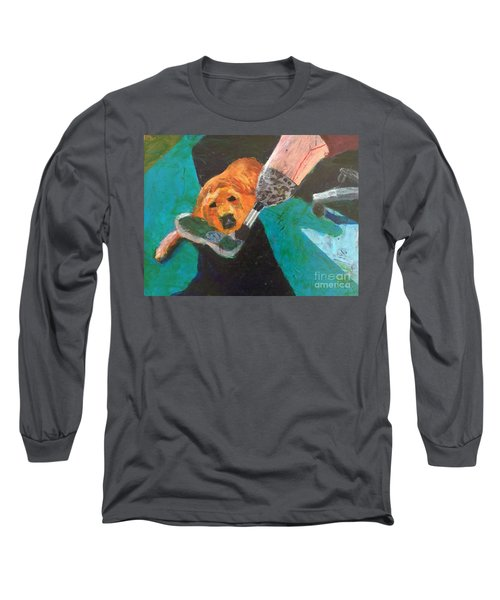 Long Sleeve T-Shirt featuring the painting One Team Two Heroes - 1 by Donald J Ryker III