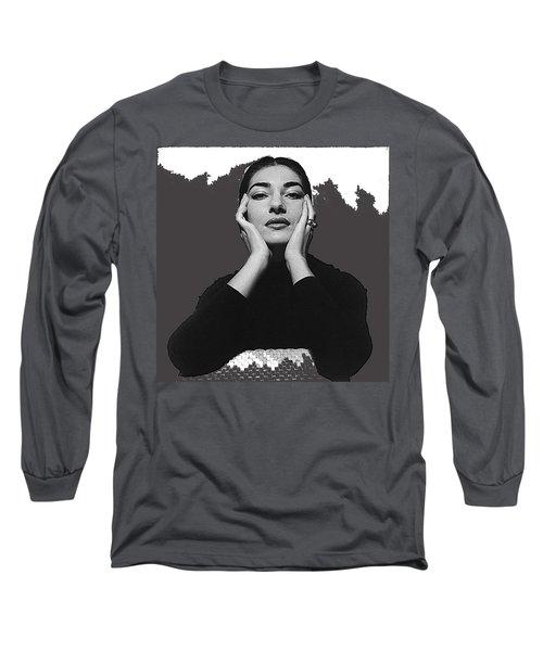 Opera Singer Maria Callas  Cecil Beaton Photo No Date-2010 Long Sleeve T-Shirt by David Lee Guss