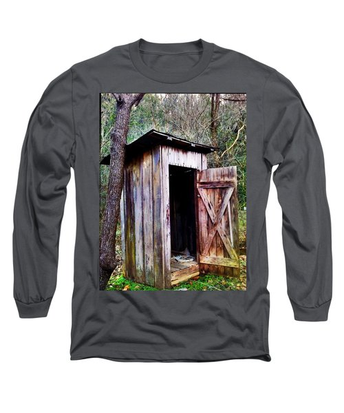 Outhouse Long Sleeve T-Shirt by Janice Spivey