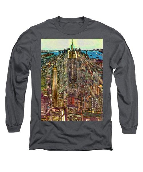 New York Mid Manhattan 1971 Long Sleeve T-Shirt
