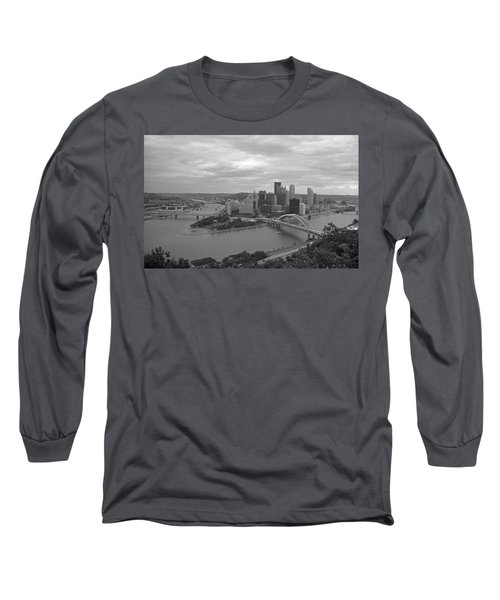 Pittsburgh - View Of The Three Rivers Long Sleeve T-Shirt