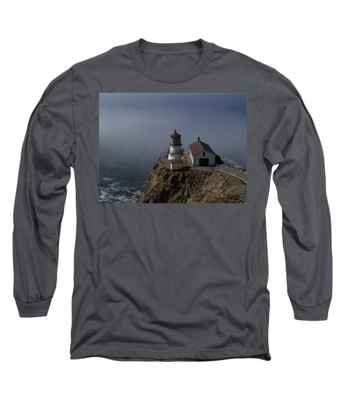 Pt Reyes Lighthouse Long Sleeve T-Shirt by Bill Gallagher