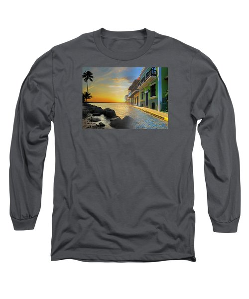 Long Sleeve T-Shirt featuring the photograph Puerto Rico Collage 4 by Stephen Anderson