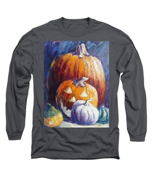 Pumpkin Happy Face Long Sleeve T-Shirt