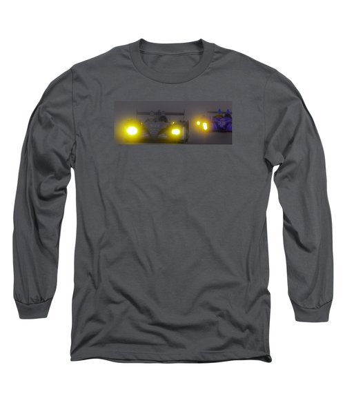 Long Sleeve T-Shirt featuring the photograph Rain Racers by Michael Nowotny