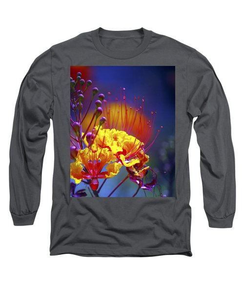 Red Yellow Blossoms 10197 Long Sleeve T-Shirt by Jerry Sodorff