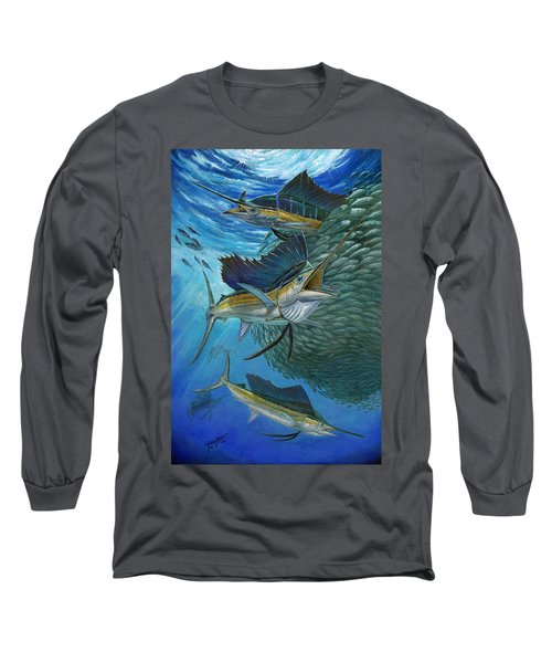 Sailfish With A Ball Of Bait Long Sleeve T-Shirt
