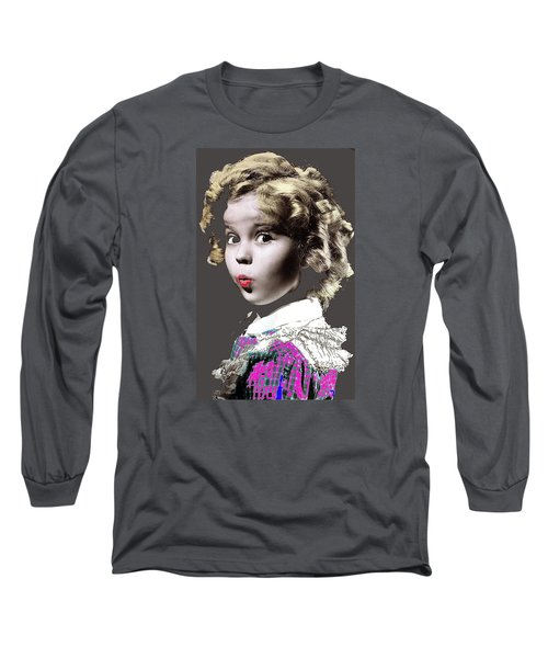 Shirley Temple Publicity Photo Circa 1935-2014 Long Sleeve T-Shirt by David Lee Guss