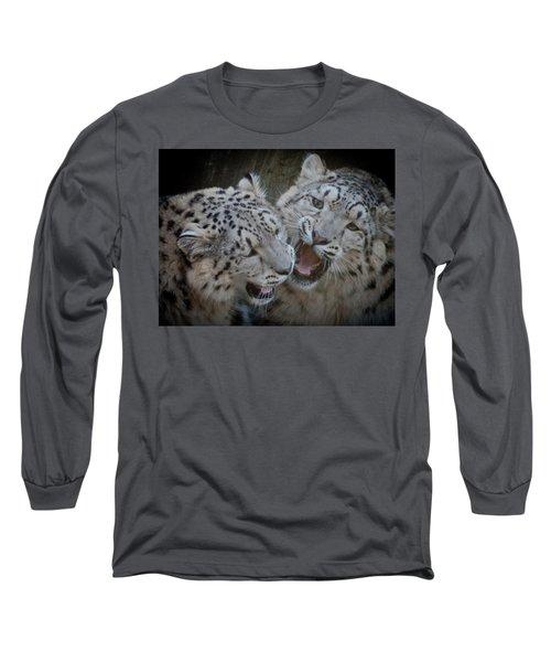 Snow Leopard Cubs Long Sleeve T-Shirt