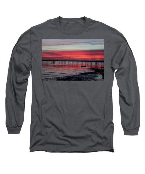 Southend Pier Sunset Long Sleeve T-Shirt