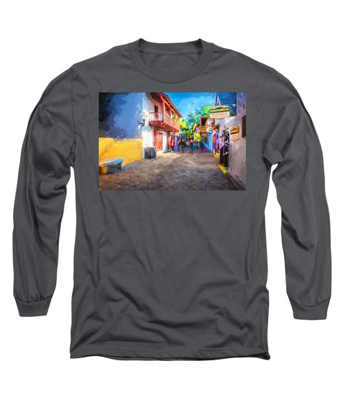 St George Street St Augustine Florida Painted Long Sleeve T-Shirt