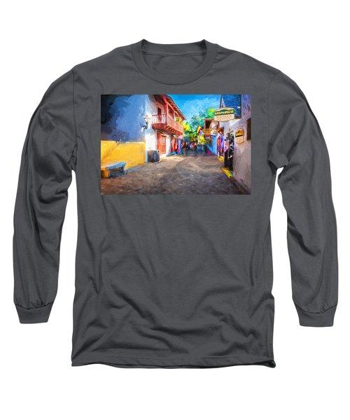 St George Street St Augustine Florida Painted Long Sleeve T-Shirt