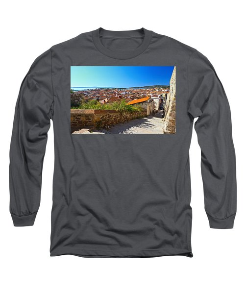stairway and ancient walls in Carloforte Long Sleeve T-Shirt