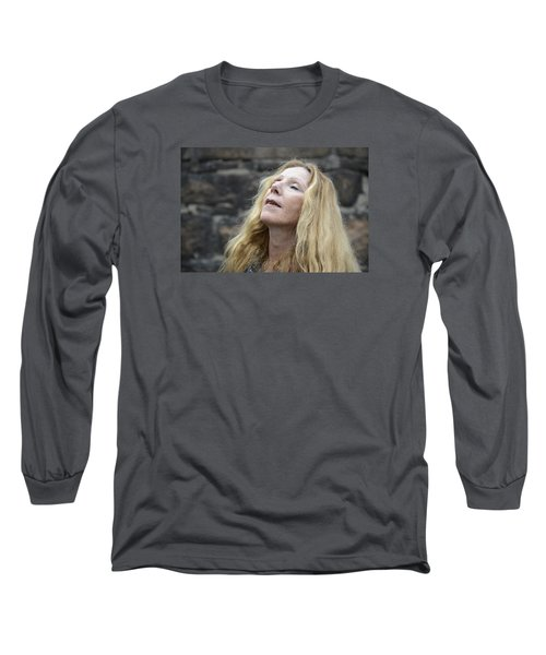 Long Sleeve T-Shirt featuring the photograph Street People - A Touch Of Humanity 2 by Teo SITCHET-KANDA