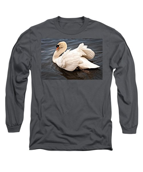 Long Sleeve T-Shirt featuring the photograph Swan One by Elf Evans