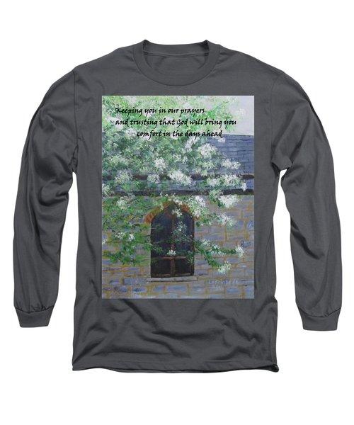 Sympathy Card With Church Long Sleeve T-Shirt