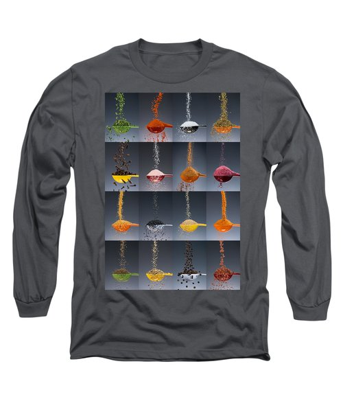 1 Tablespoon Flavor Collage Long Sleeve T-Shirt