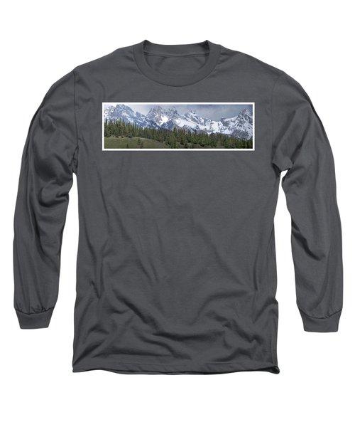 Tetons Panorama Long Sleeve T-Shirt
