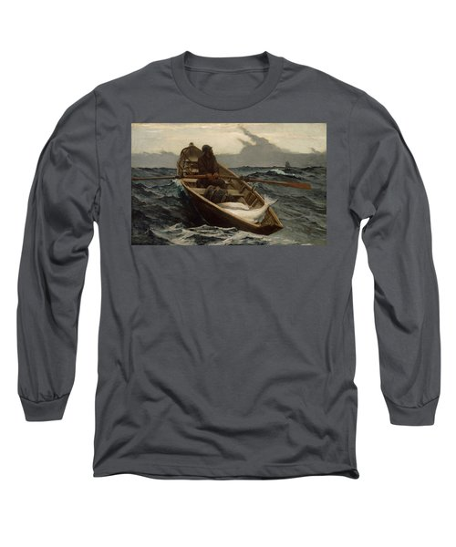 The Fog Warning Long Sleeve T-Shirt by Winslow Homer