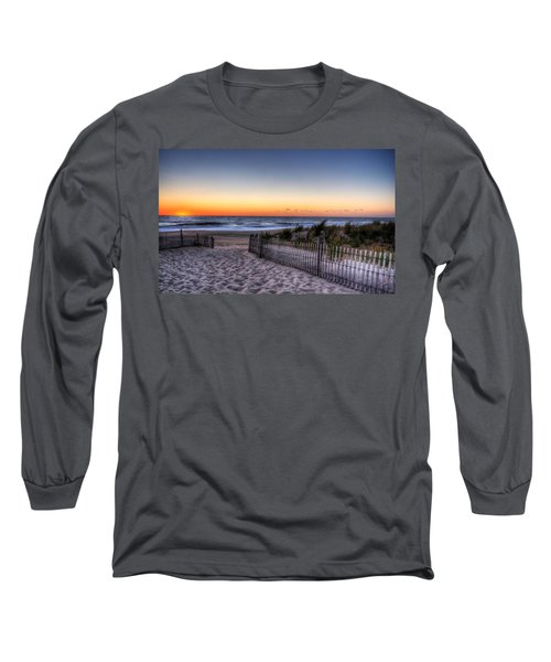 Tower Beach Sunrise Long Sleeve T-Shirt