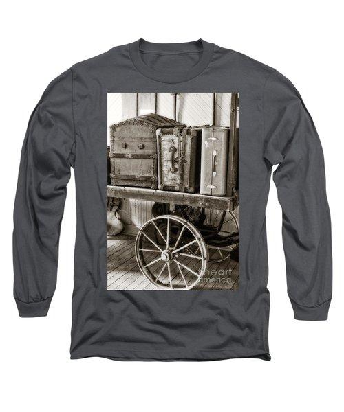 Train Station Luggage Cart Long Sleeve T-Shirt